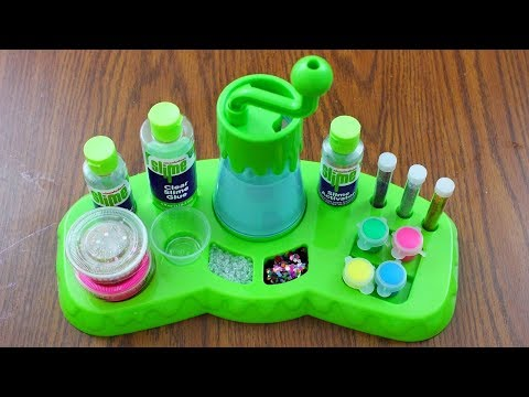 Testing Nickelodeon Super Slime Studio Kit! DIY Slime Factory! Is it Worth it?