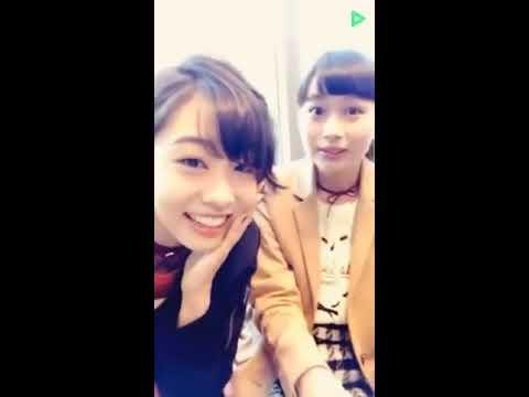 20161126 原宿駅前パーティーズ LINELIVE 中田陽菜子(原宿乙女)、中野あいみ(ふわふわ)