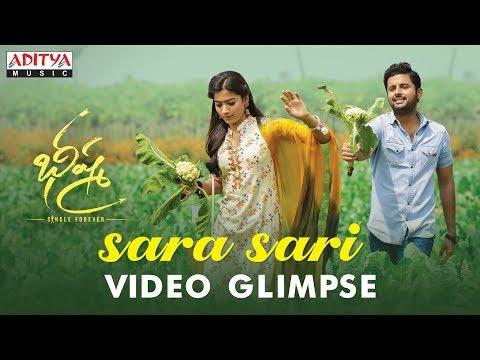 Sara Sari Video Glimpse | Bheeshma Movie | Nithiin, Rashmika| Venky Kudumula | Mahati Swara Sagar