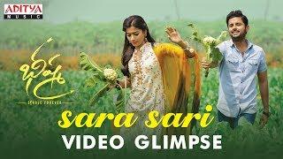Sara Sari Video Glimpse From Bheeshma Movie   Nithiin, Rashmika