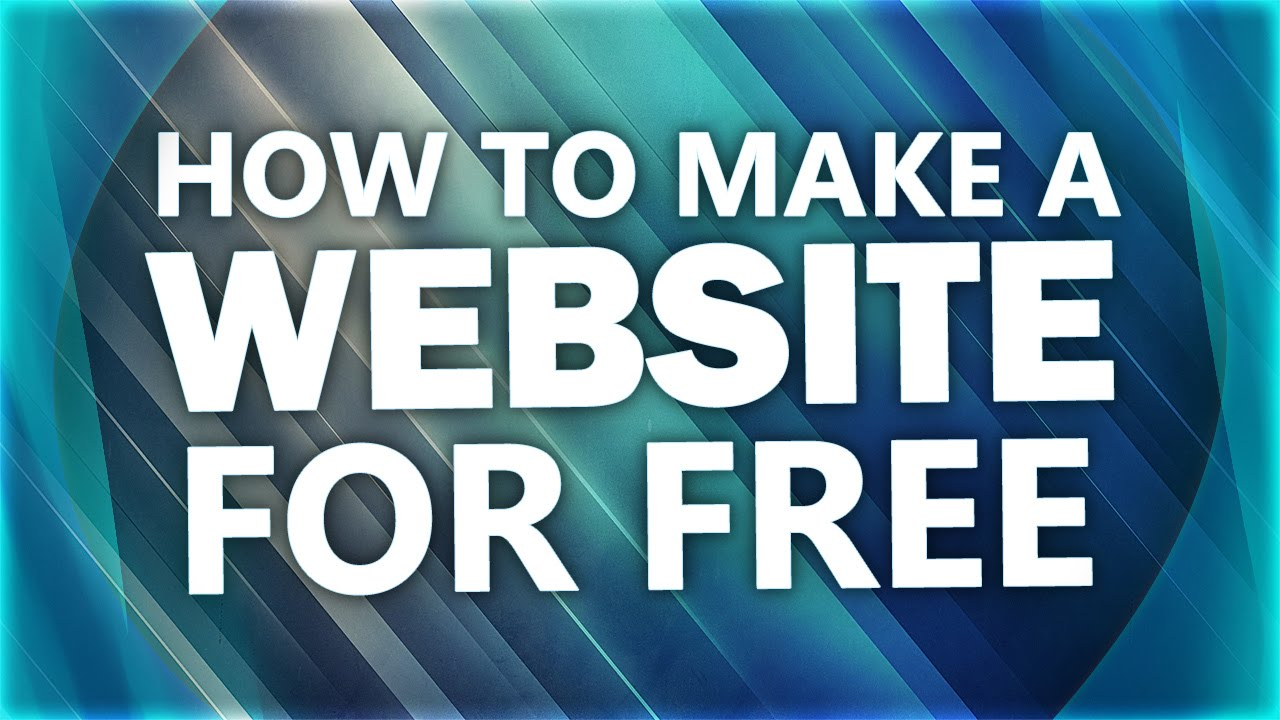 How to Make a Website for FREE - YouTube - photo#37