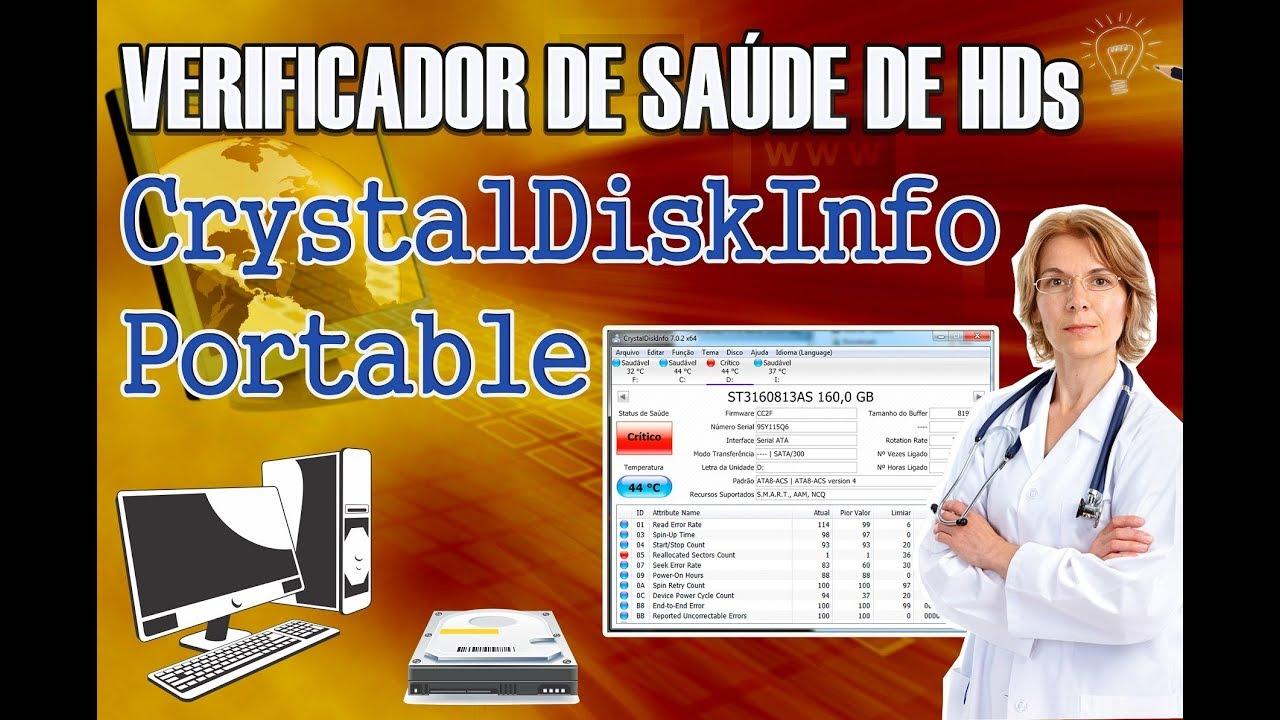 Dica - Crystal portable verificador de saúde de HD