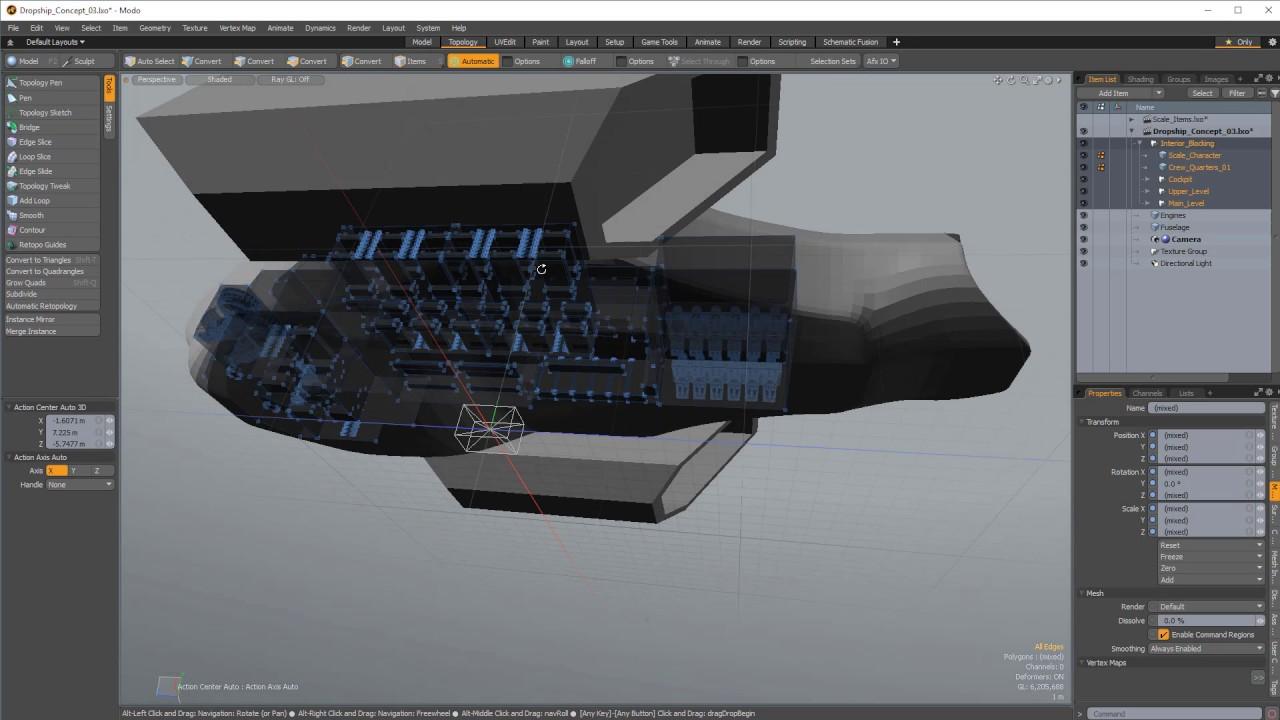 Modo | Building A Spaceship: Ship Exterior And Interior (Part 3)