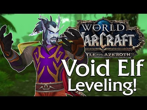 Checking out the NEW Battle for Azeroth Models! + Void Elf Levelling after...   World of Warcraft