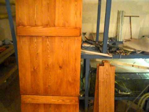 видео: дверь в баню + окно, из лиственницы.