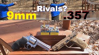 STOP Saying 9mm RIVALS .357 MAGNUM! Buffalo Bore 9mm 147 gr +P+ VS Buffalo Bore .357 Magnum 180 gr