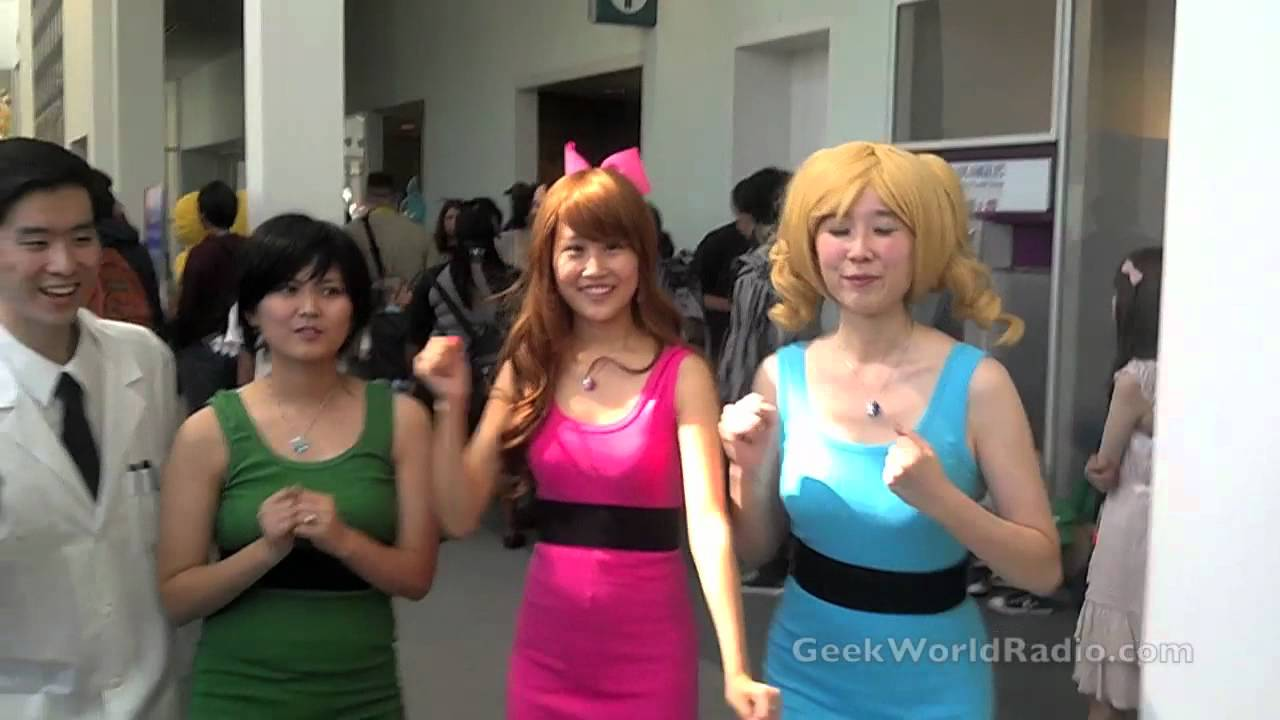 Powerpuff Girls Cosplay At Anime Expo 2012 Youtube