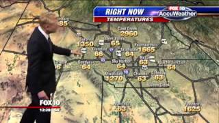 Weather Map Displays 1000+ and 2000+ Degree Temperatures! Too funny! Fox 10 Phoenix.