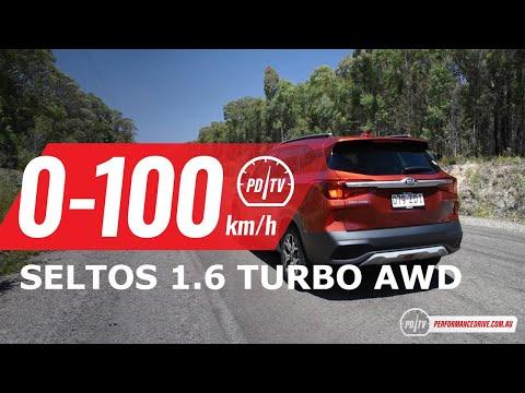 2020 Kia Seltos 1.6T AWD 0-100km/h & engine sound