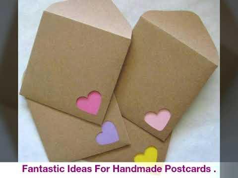 Fantastic Ideas For Handmade Postcards Youtube