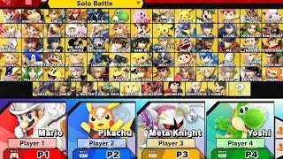 Super Smash Bros Ultimate - All Characters + Alternate Costumes & Colors