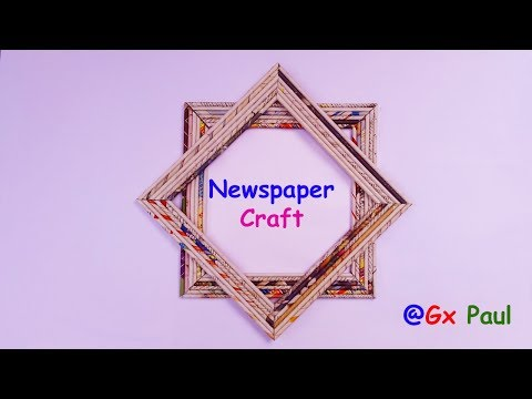 Newspaper Craft   How To Make newspaper Photo Frame   Best out Of Waste   By Gx paul