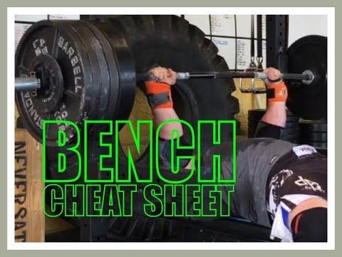 BENCH CHEAT SHEET!