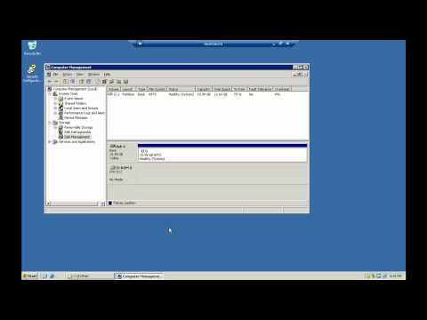 How To Extend The System Partition Of A Windows Server 2003 VM