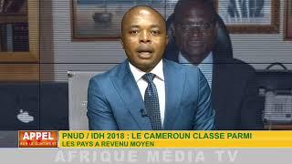 PNUD / IDH 2018 : LE CAMEROUN CLASSE PARMI LES PAYS A REVENU MOYEN.