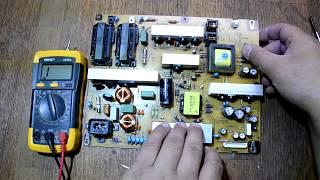 Не включається Телевізор LG 42CS460-ZA проблема в блоці живлення