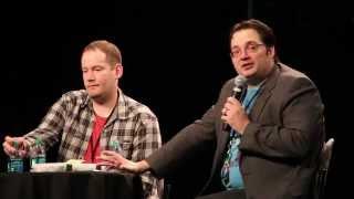 Fantasy Authors Brandon Mull and Brandon Sanderson