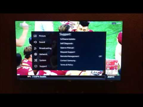 Samsung 6 Series TV Smart Hub Apps - Factory Reset