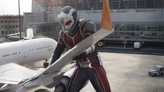 Гигантский Человек Муравей. Битва в аэропорту Часть 4 | Первый Мститель:Противостояние | 2016 |