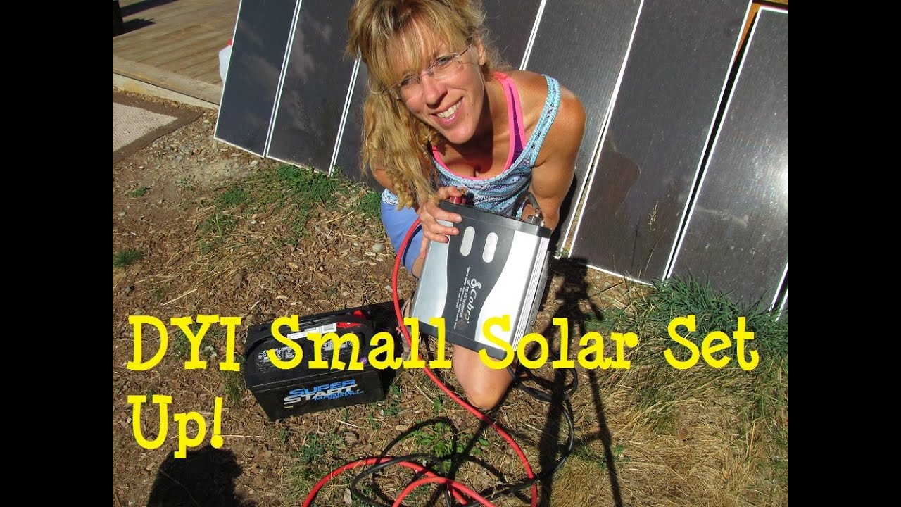 Diy Solar Panel System Small Affordable Set Up Youtube