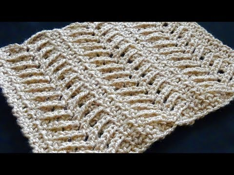 Lacy Arrow Crochet Stitch - Right Handed Crochet Tutorial