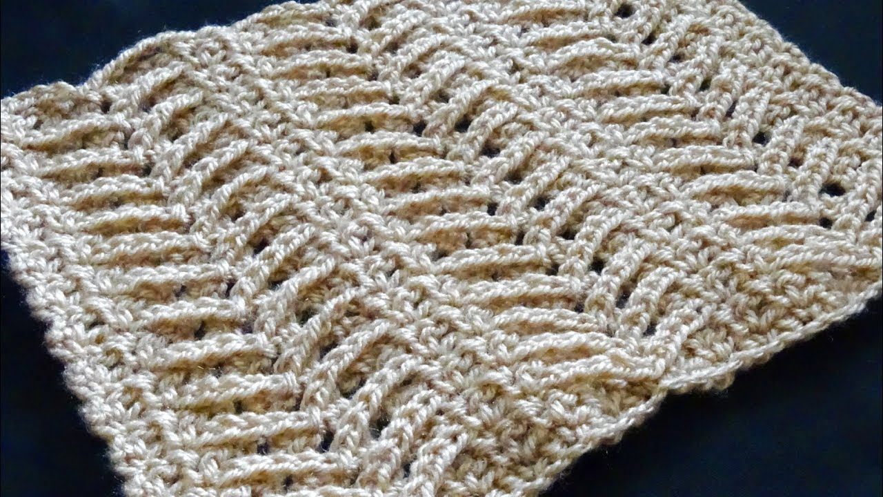 Lacy Arrow Crochet Stitch Right Handed Crochet Tutorial