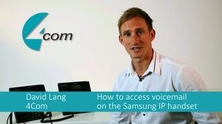 How to access your voicemail on the Samsung IP handset