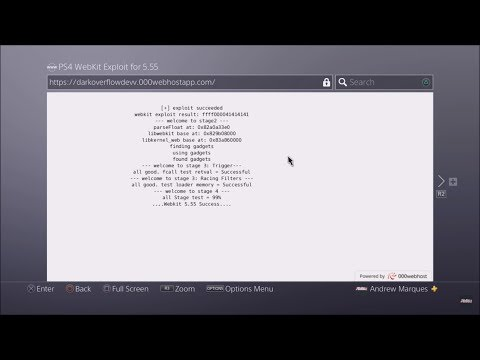 PS4 5.55 WebKit Exploit Online