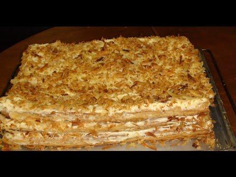 Рецепт быстрого торта Наполеон из готового слоеного