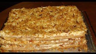 """Napoleon cake preparation. Настоящий  торт """"Наполеон"""" Классический, слоеный, откжваю все секреты"""