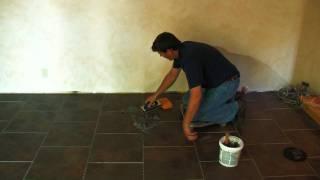 SnapStone Porcelain Tile Installation - Grouting Tile