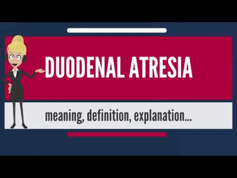 What is DUODENAL ATRESIA? What does DUODENAL ATRESIA mean? DUODENAL ATRESIA meaning & explanation