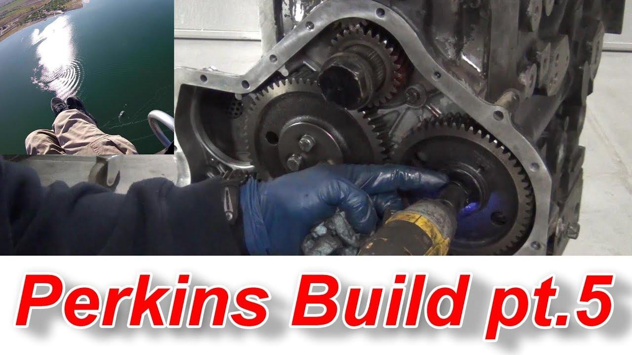 Perkins Diesel Engine Build Pt 5 Timing Gears and Seals