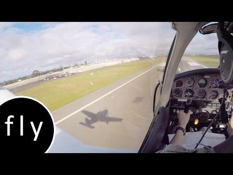 Instrument Landing System approach Essendon Airport