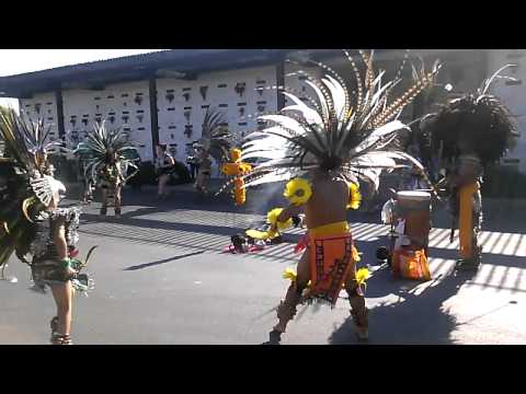 Dia de los muertos Aztec dancers