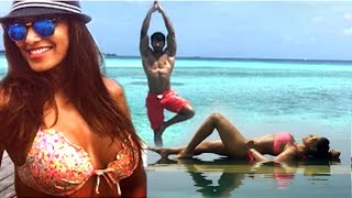 Bipasha basu and karan singh grover hot in maldives vacation 2015