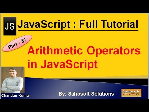 Arithmetic Operators in JavaScript  : Part - 33 : JavaScript Full Tutorial in Hindi thumbnail
