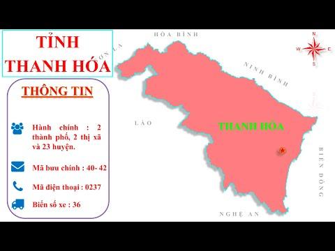 Bản đồ tỉnh Thanh Hoá -- Vị trí tỉnh Thanh Hoá trên bản đồ hành chính Việt Nam.