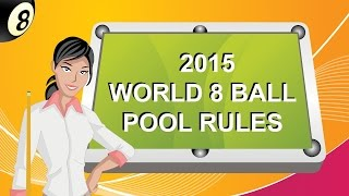 8 Ball Umpire; 2015 World Eight Ball Pool Rules