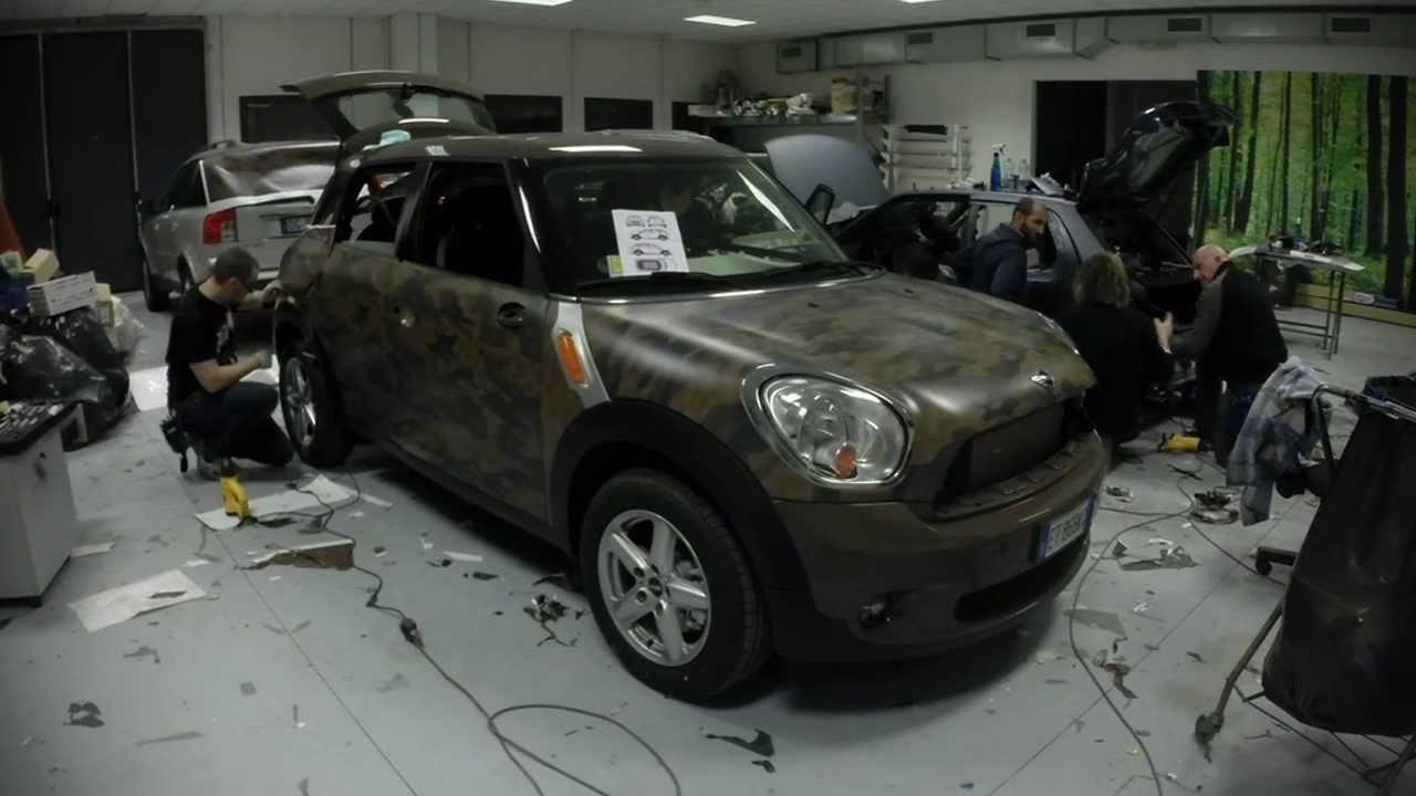 Car Wrapping Mini Countryman Camouflage Youtube