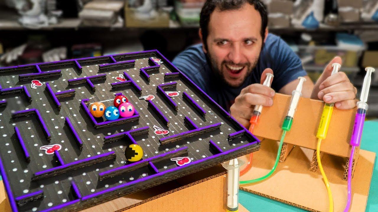 Faça em casa um Pac-Man hidráulico!