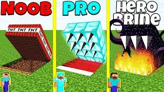 Minecraft Battle: NOOB vs PRO vs HEROBRINE: HIDDEN TRAP CHALLENGE / Animation