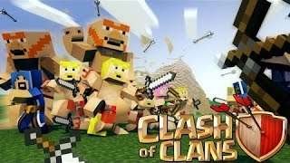 """""""CLASH OF CLANS ON MINECRAFT BUILD!"""" - X-BOW! - Episode 3"""