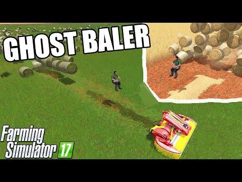 Farming Simulator 17 | GHOST BALER , GHOST TRACTOR , GHOST FARMING ????????????