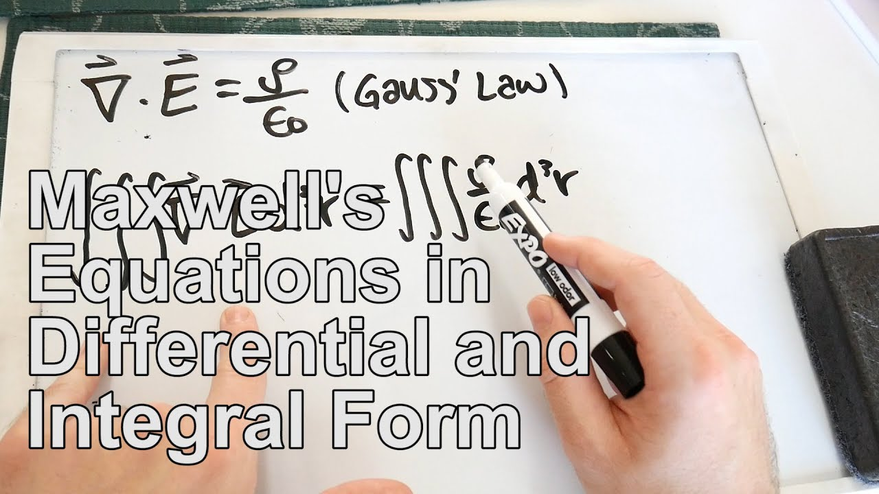 Converting Maxwells Equations from Differential to Integral Form ...