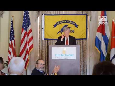 Discurso de Bolton en Miami ante la Brigada 2506