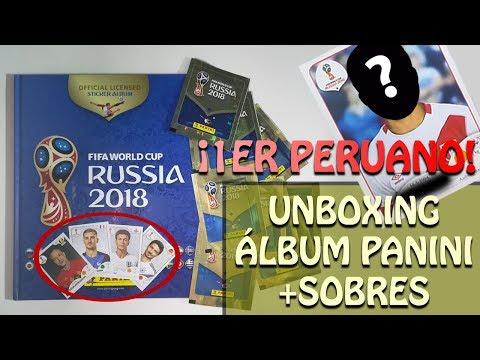 ¡ME TOCÓ UN PERUANO!: UNBOXING ÁLBUM PANINI RUSIA 2018 + APERTURA DE SOBRES. #01