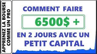 COMMENT FAIRE 6500$ EN 2 JOURS A LA BOURSE AVEC UN PETIT CAPITAL? 75% DE GAIN AVEC HEMP