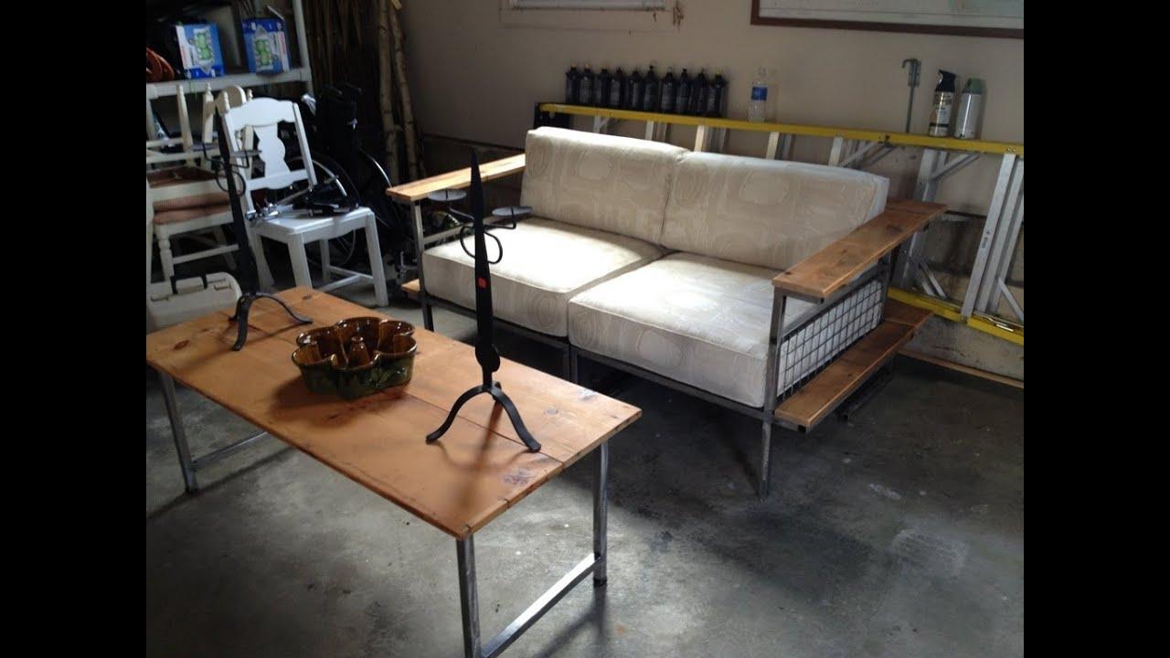 Diy Pvc Pipe Sofa Best Material For Slipcover Charming Steel Grill Frame Modern Set