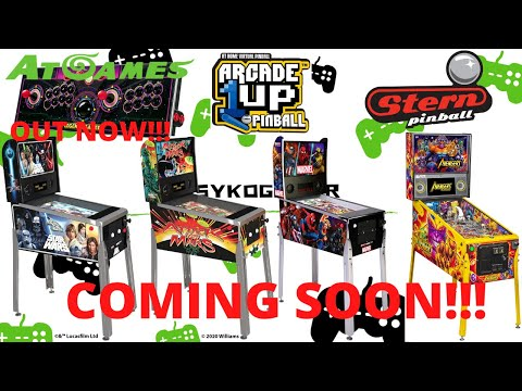 Arcade1up Pinball news, ATGames Legends Gamer Sticks and Avengers Infinity Quest Pinball by Stern! from PsykoGamer